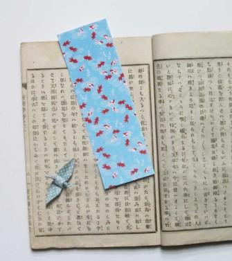 marque-pages - poisson rouge - bleu