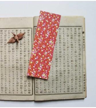 marque-pages - guirlande de fleurs - rouge