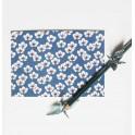 carte postale - anémone bleu clair