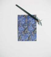 carte postale - pluie d'ombrelles - bleu