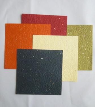 pochette - papier aspect froissé et micacé 15 x 15