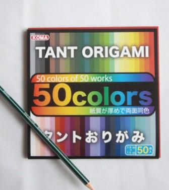 papier Tant 15 x 15 cm - 50 feuilles de 50 teintes différentes