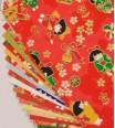 pochette - chiyogami 15 cm x 15 cm