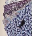 pochette - chiyogami bleu 36 x 25,5 cm